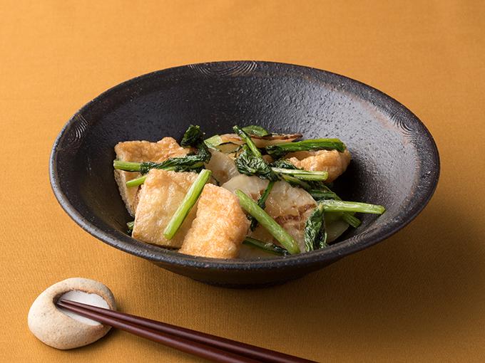 かぶとうす揚げの生姜炒め
