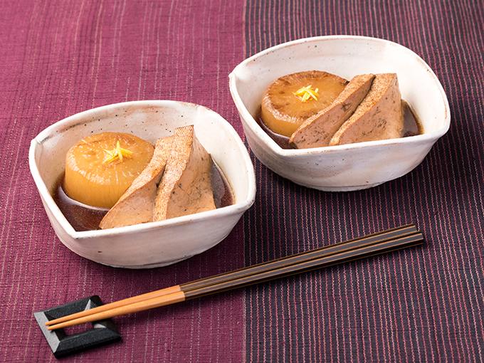 焼き大根と焼き豆腐の煮物