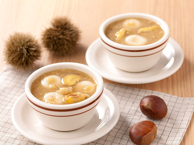 レンズ豆の生姜ぜんざい