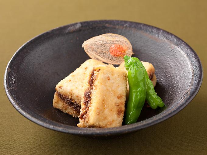 豆腐のはさみごまフライ