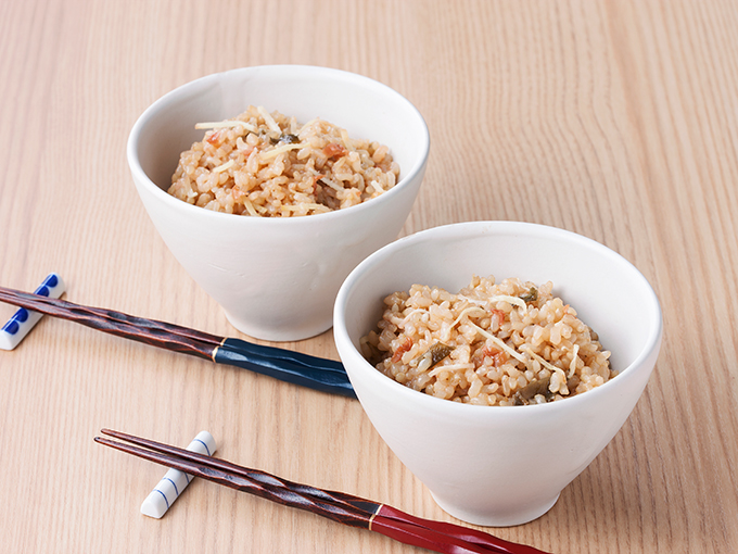 生姜と梅の玄米ごはん