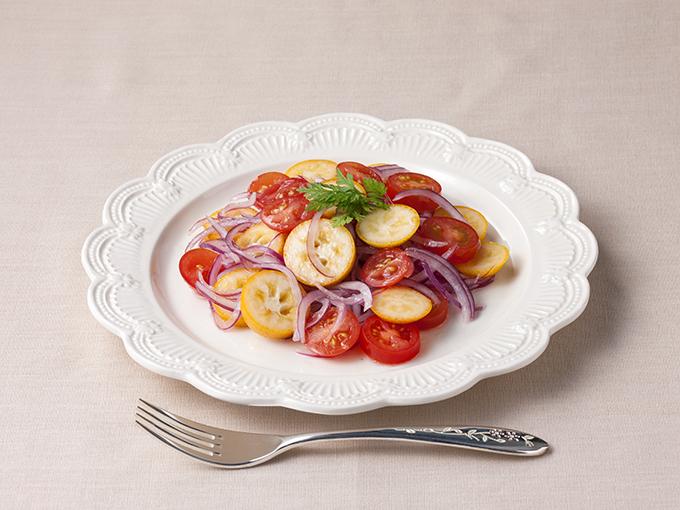 金柑とトマトのマリネ風サラダ