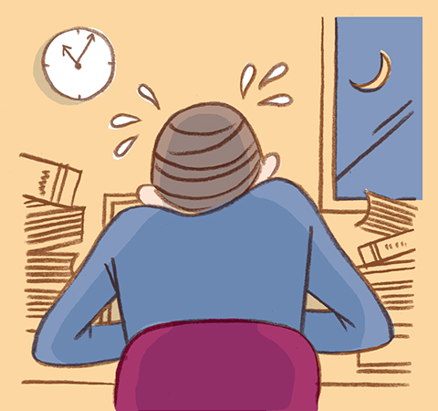 働き過ぎや眼精疲労(自律神経の乱れ)