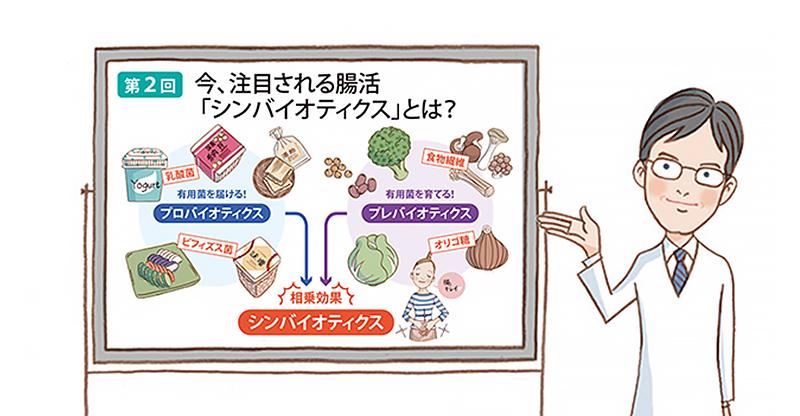 腸の働きを最大限に高める <シンバイオティクス>とは?