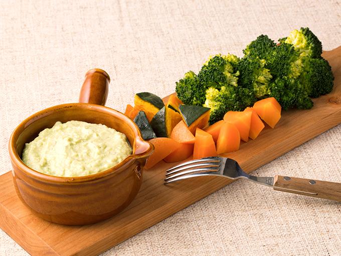 緑黄色野菜のアボガドフォンデュ