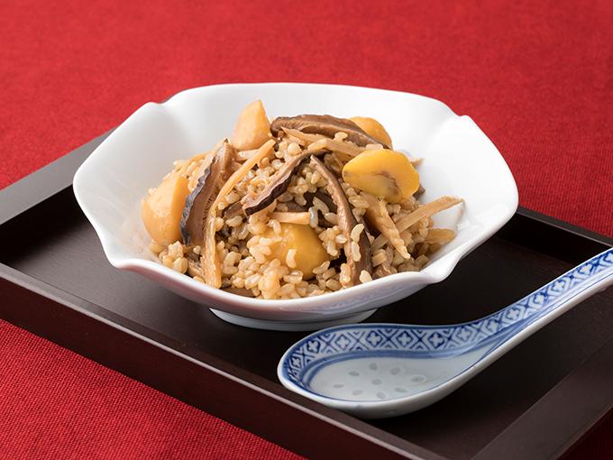 椎茸と栗の中華風玄米おこわ