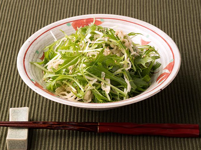 切干し大根と水菜のサラダ