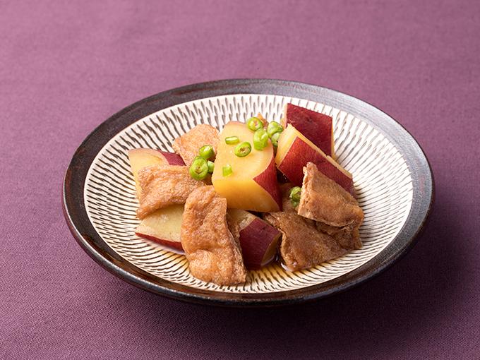 さつま芋とうす揚げの煮物