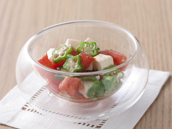 夏野菜と豆腐のわさび風味