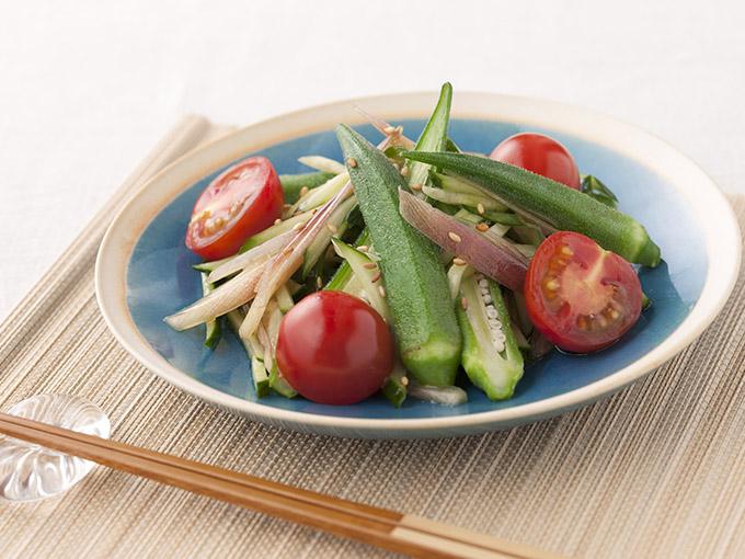 夏野菜の香味サラダ