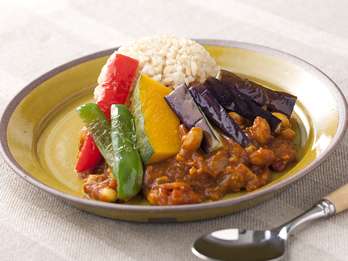 彩り野菜の豆カレー