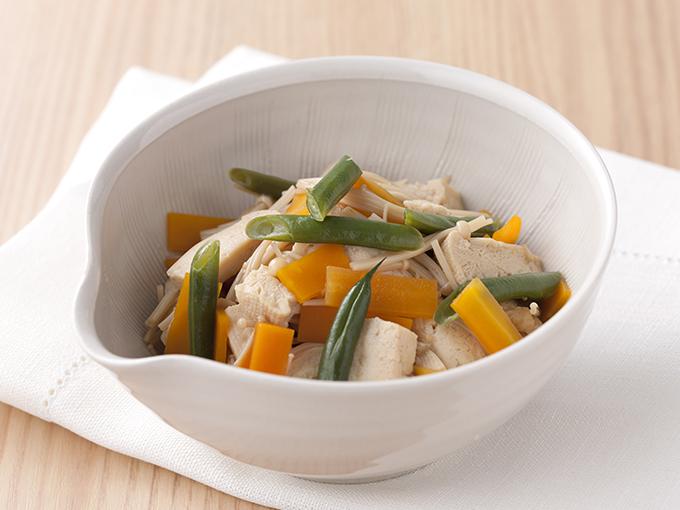 凍り豆腐の五目煮