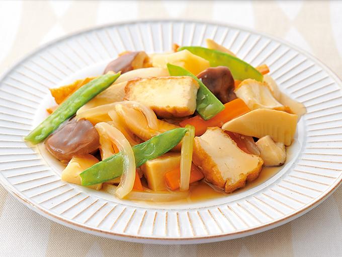 野菜たっぷり厚揚げの八宝菜