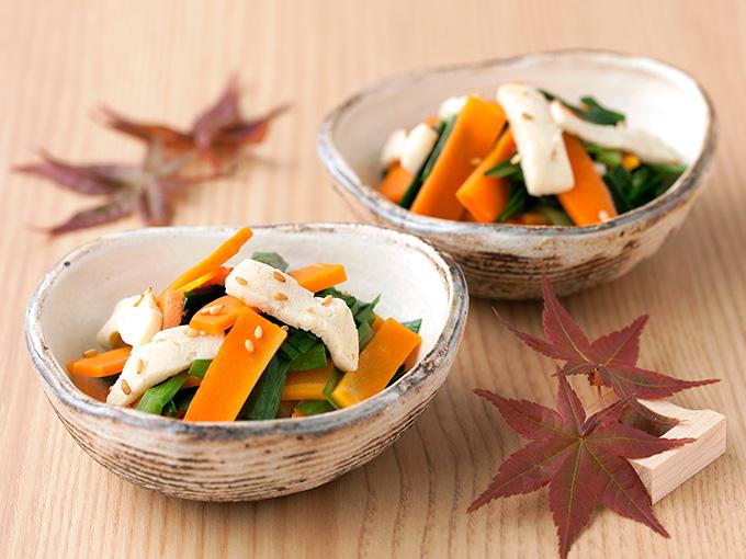 野菜の凍り豆腐和え