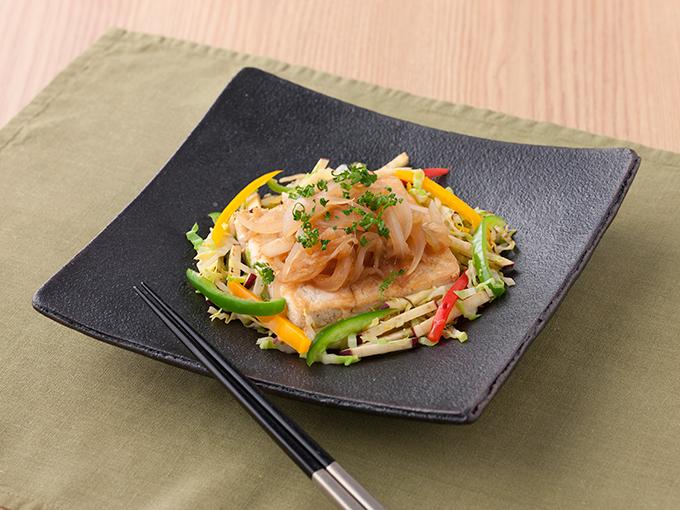 豆腐ステーキ玉ねぎソース
