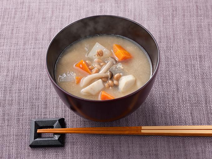 納豆のっぺい汁