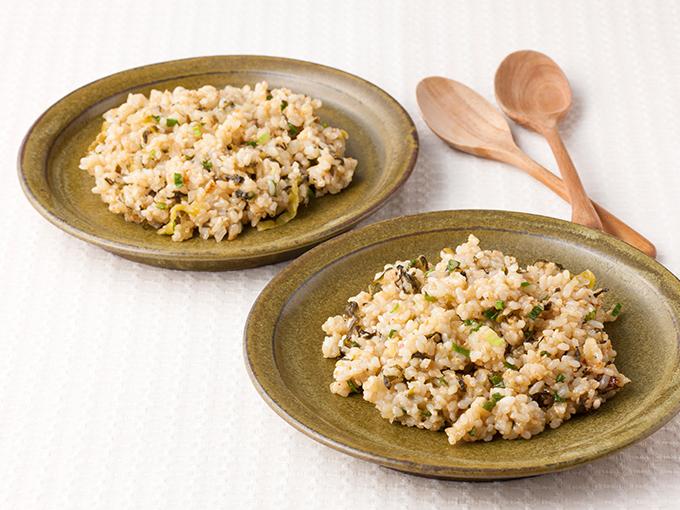 高菜の玄米チャーハン