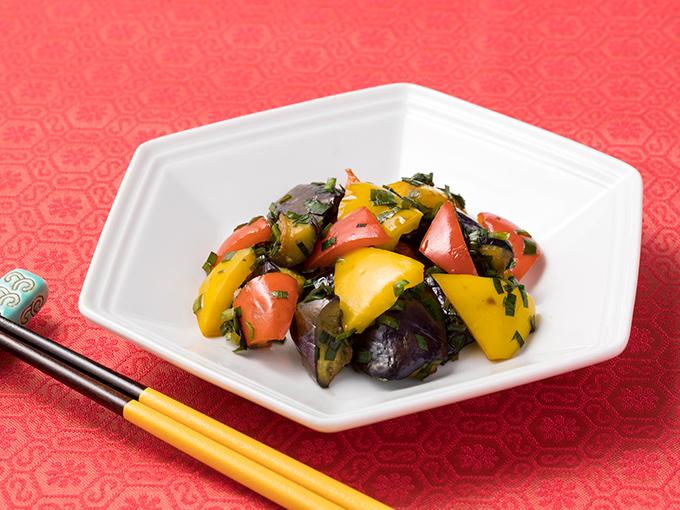 夏野菜のにらダレ炒め