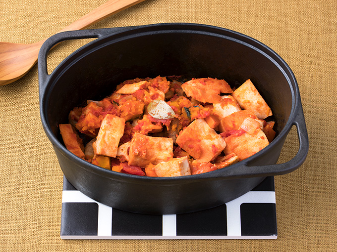 高野豆腐と根菜のラタトゥユ