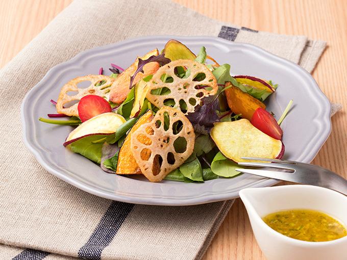 秋野菜のぱりぱりサラダ