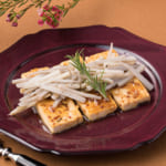 豆腐のマスタード照り焼き