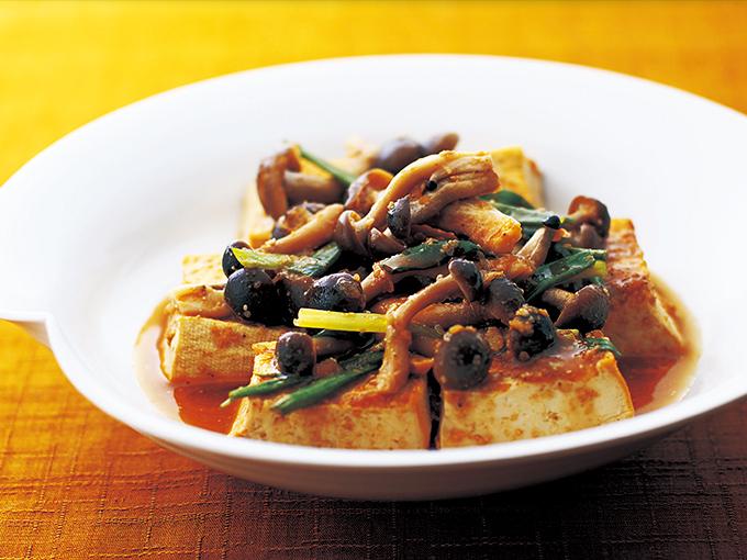 しめじと豆腐のピリ辛煮