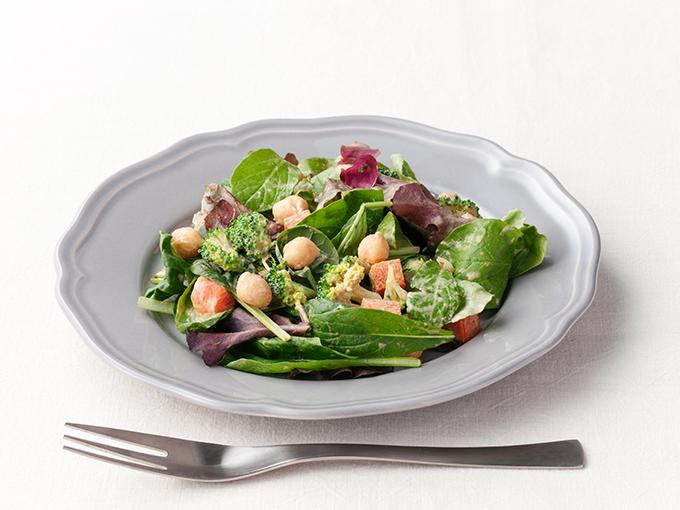 ひよこ豆のカレー風味サラダ